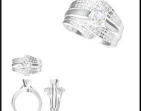 Wedding band rings for women ring cad 3D print model