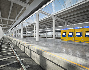 Train Station 01 3D asset