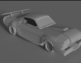 3D ford mustang car model rigged