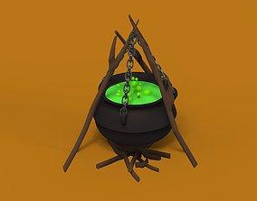 3D model Cauldron with a potion