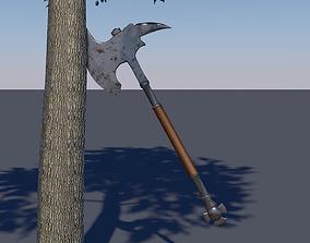 very 3D asset VR / AR ready Medieval axe