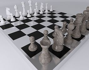 Chess Table 3D asset