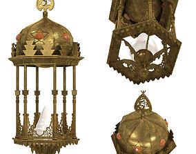 3D Middle Eastern Moorish Style Six-Sided Lantern