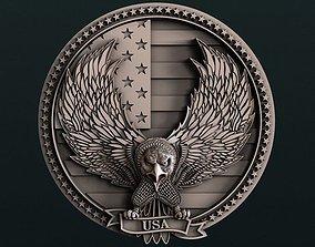 American Eagle 3d stl model for cnc 3D print