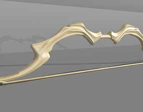 realtime Low poly model of ancient bow