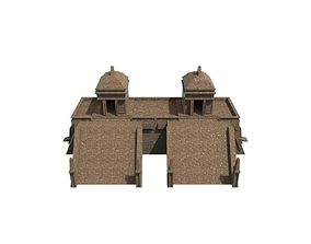 Mayan temple 3D asset