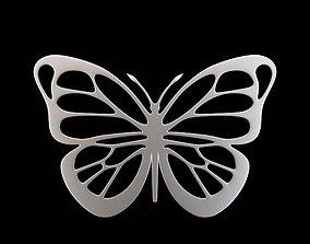platinum Butterfly Pendant 3D printable model