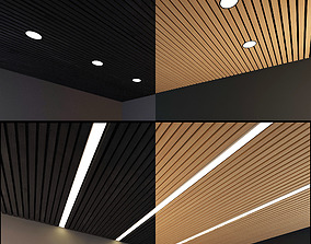 Wooden Ceiling Set 7 3D