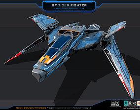 3D model SF Tiger Fighter