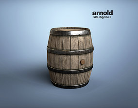 Wine Barrel Medieval style 3D model