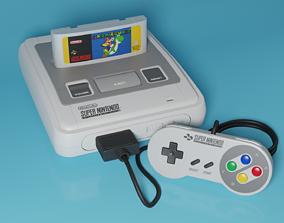 3D model Super Nintendo Entertainment System SNES PAL