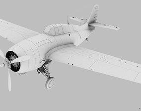 3D model GRUMMAN F4F-3 WILDCAT