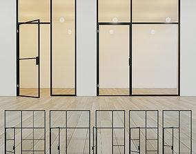 Glass partition door 11 3D asset