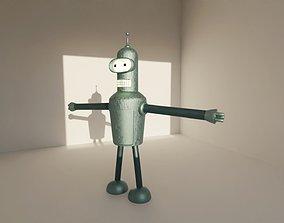 3D model low-poly Bender