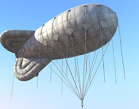 WW2 Barrage Balloon 01 3D asset