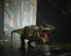 3D model animated VR / AR ready Tyrannosaurus