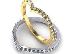 gold 3D print model Simple ring