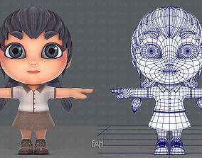 3D model Girl SD