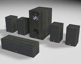 audio speakers 3D asset