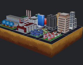 Lowpolitis city 3D model