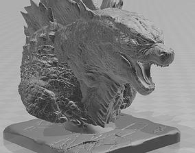 3D printable model Godzilla bust