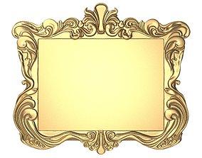 3D mirror carved frame