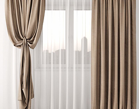 architectural drapes Curtain 3D model