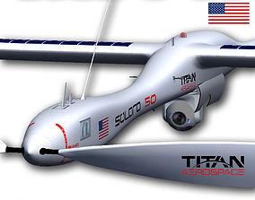 3D model animated Solara 50 Aerospace Extended
