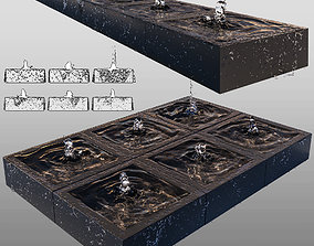 Cubic fountains 3D model