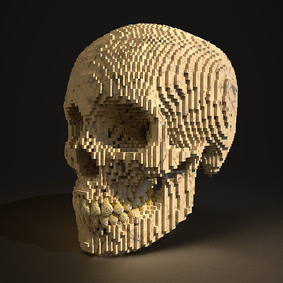 Lego Human Skull