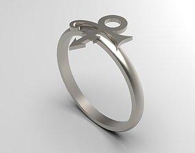 3D print model Prince Sott Mini Vertical Love Ring in Eu