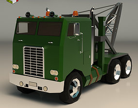 Low Poly Vintage Truck 04 3D model