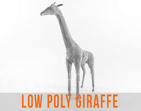 3D model Giraffe Low Poly Mammal African Wild Animal