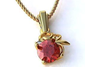 gold luxury 3D model Golden Pendant