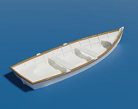 3D model Wooden Dinghy