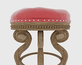 Classic stool 3D model PBR