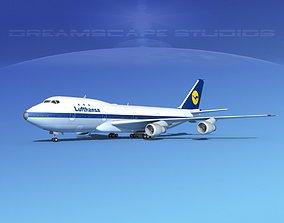 3D Boeing 747-100 Lufthansa