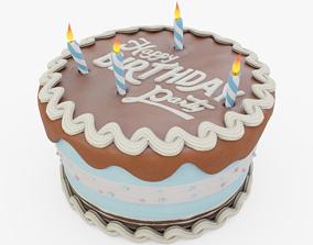 3D model Chocolate Birthday Cake