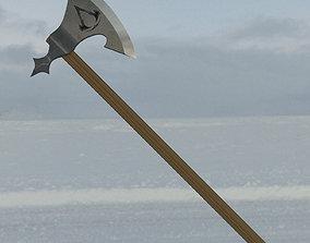 Assassins Creed Valhalla Eivor poster 3D print model 2