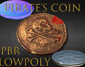 Pirates Coin Piastre 3D asset