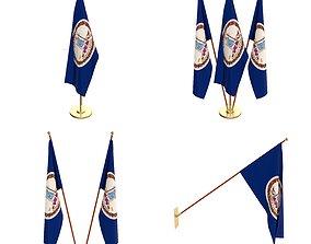 3D model Virginia Flag Pack