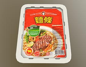 3D asset low-poly Instant Noodles