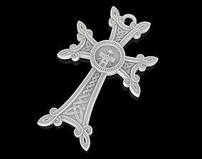 3D printable model Christian cross pendant church pray