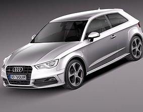 3D model Audi A3 s-line 2013 3-door