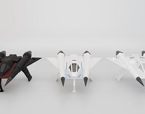Starfighter 3D asset sci