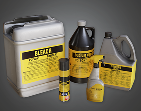 Cleaning Supplies - CLA - PBR Game Ready 3D model