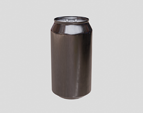 3D asset Drinks Can Unbranded