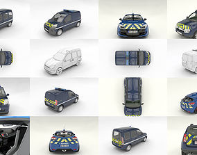 french gendarmerie vehicles 3D