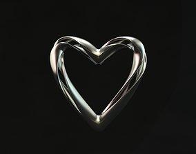 Twisted heart pendant 3D print model