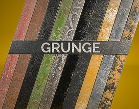 3D 10 Grunge Metal Materials for C4D Octane Render